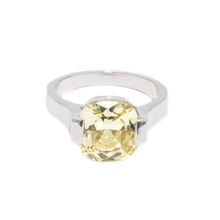 Canary yellow gemstone ring.