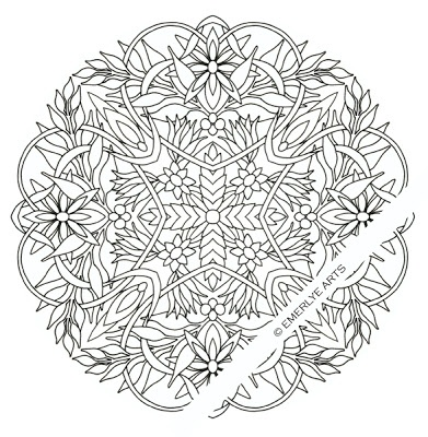 Hearts Amp Flowers Coloring Page