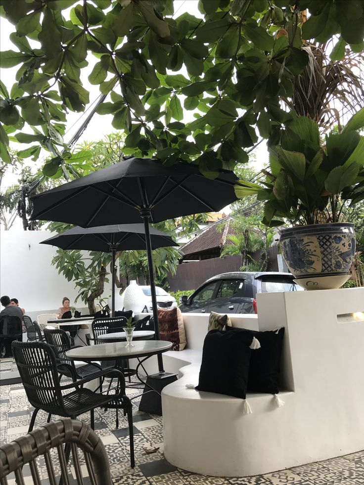 Outdoor seating Kim soo cafe Bali