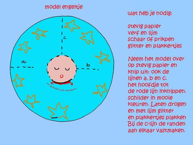 knutseltip kerst. Engeltje maken. www.dewereld vanwiepje.nl