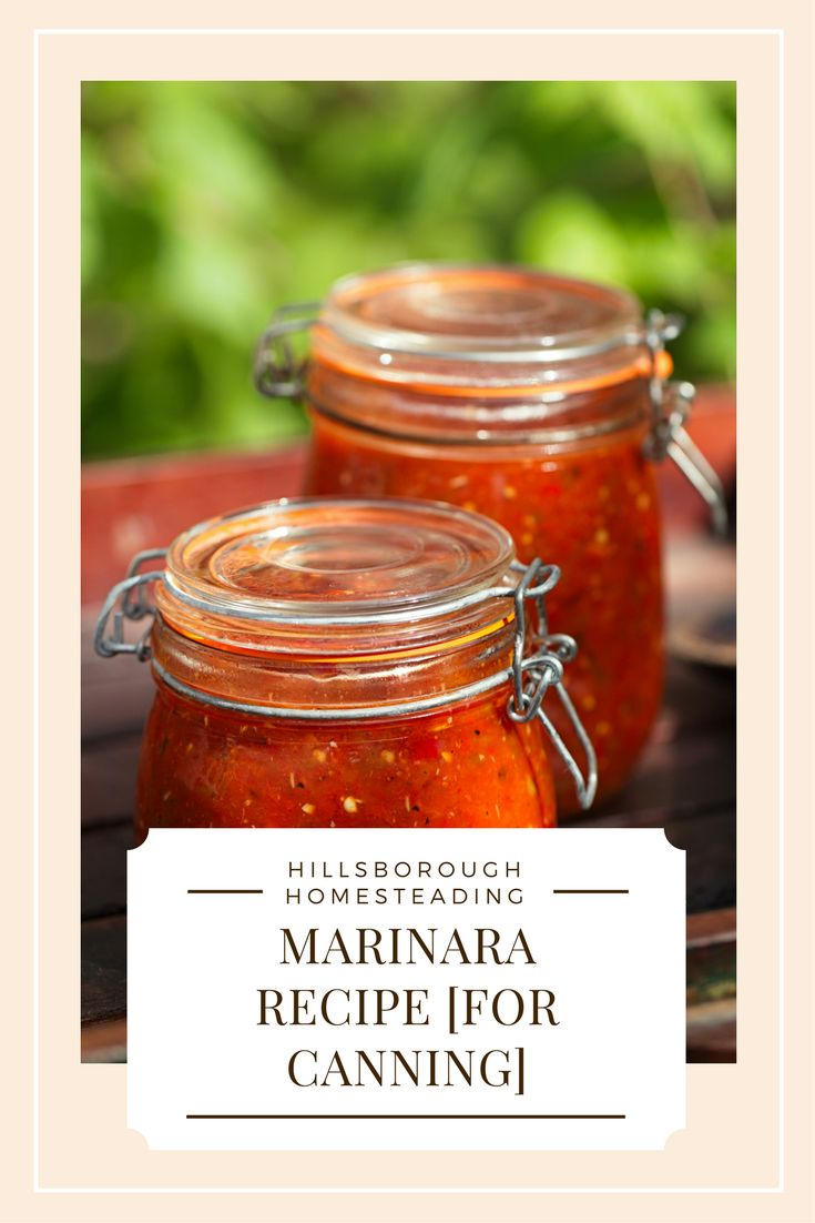 Homesteader recipe: homemade marinara (pizza sauce) recipe. Easy as can be a delicious. Make a large batch and can it for a rainy day! | Hillsborough Homesteading