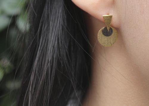 Øreringe med runde mønter