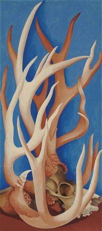 Deer Horns by Georgia O'Keeffe, 1938.