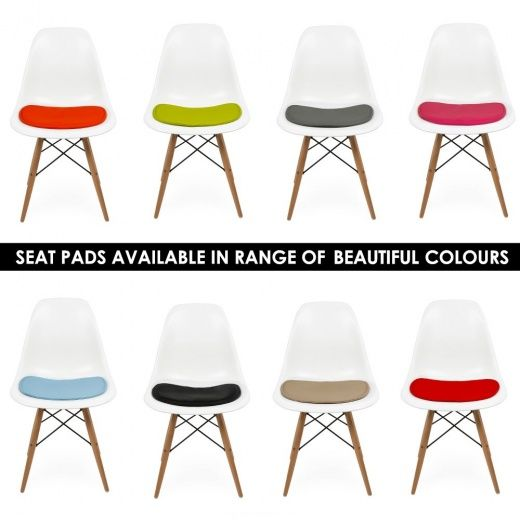 Orange Eames Style DSW Chair | Side & Cafe Chairs | Cult Uk