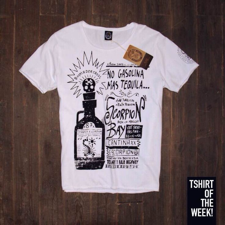 """Direttamente dalla Cantina Escorpion di San Juanico, ecco la #TshirtOfTheWeek di oggi con la stampa """"No Gasolina Mas Tequla""""! #XXX #TexMex #FW2015 Acquistala online nella versione nera >> http://www.scorpionbay.com/it/store/uomo/t_shirt-e-polo/t_shirt-105601"""