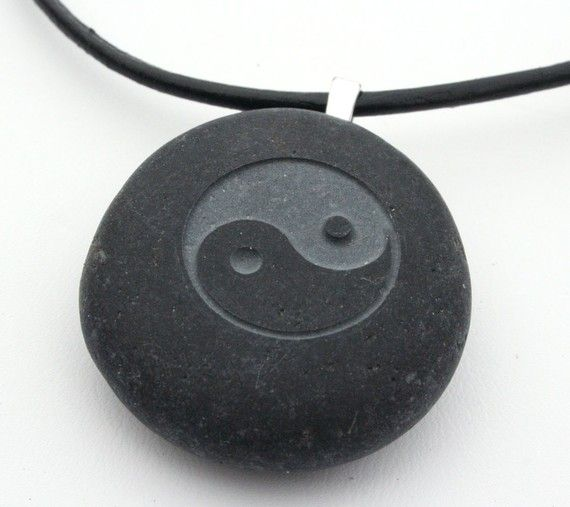 Tai Chi necklace  Tiny PebbleGlyph C  engraved by sjengraving, $20.00