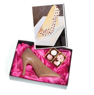 Cinderella – Belgian Chocolate Stiletto | Bakers and Artists | The Daily Gourmet Food and Product CataBlog | Trends | Packaging | Hampers | Cupcakes | Cakes | Cookies | Chocolate | Kitchen Products