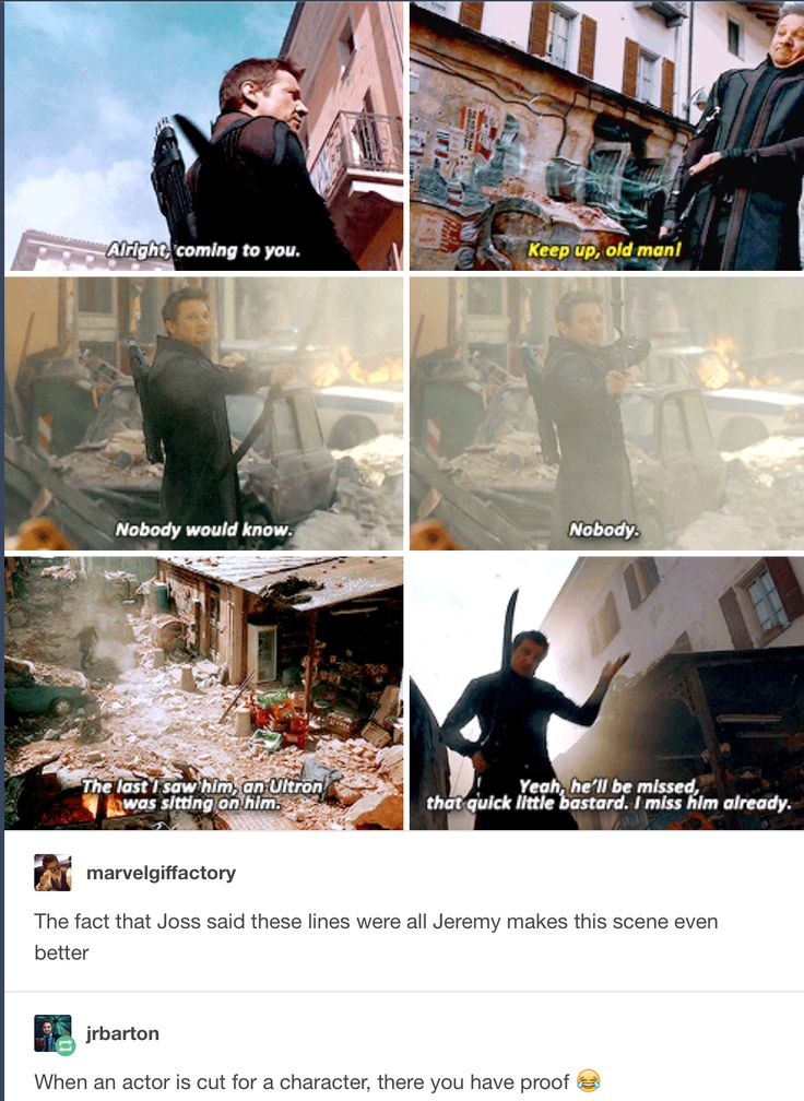 Ok but I just realized something. Clint says that Quicksilver could die if he just shot the arrow and it would be Clint's fault. Then when he does die it is because he is saving Clint and the kid.