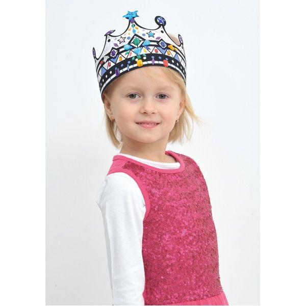 Korona do dekorowania DIY #creative #fun #kids #crown #decoration #birthday #zabawa #urodziny #moje #bambino  http://www.mojebambino.pl/akcesoria-do-tworzenia-strojow-upominkow-dekoracji-sal/720-korony-do-dekorowania-z-zamszem.html