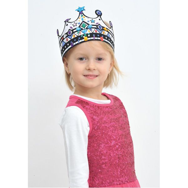 Korona do dekorowania DIY #creative #fun #kids #crown #decoration #birthday #zabawa #urodziny #moje #bambino  http://www.mojebambino.pl/akcesoria-do-tworzenia-strojow-upominkow-dekoracji-sal/720-korony-do-dekorowania-z-zamszem.html
