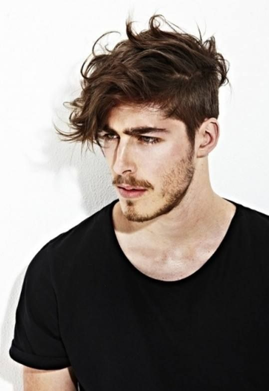 // I'd never get him to grow it out like this but...
