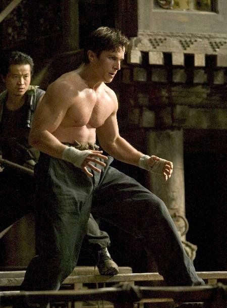 Christian Bale in Batman Begins...just watched all 3 movies again and they are really good