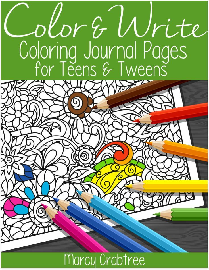 FREE! Color & Write Coloring Journal Pages for Teens