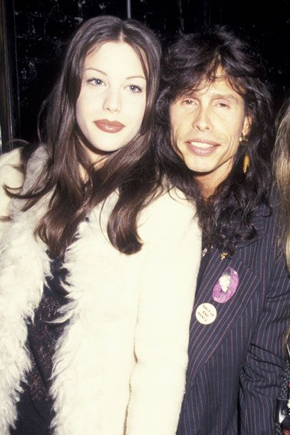 Actress Liv Tyler and father, singer Steven Tyler at Club USA in New York City in 1993.