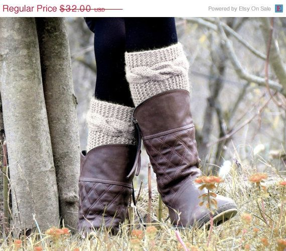 DISCOUNT Boot Cuffs Knitted Boot Cuff  Woman   by EmofoFashion, $27.20