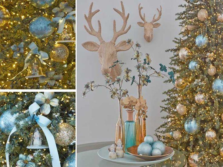 Albero di Natale 2014: turchese e oro