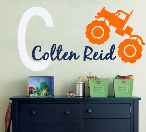 Hey, I found this really awesome Etsy listing at http://www.etsy.com/listing/116126424/monster-truck-wall-decal-monogram-decal