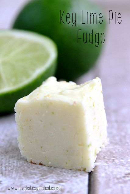 Key Lime Pie Fudge - easy recipe! No thermometer needed! Make it with or without the graham cracker crust! #fudge #keylime #easy