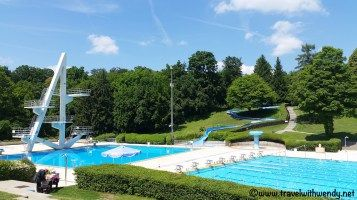 Sindelfingen pool near Stuttgart - large Olympic size pool with several diving boards. It's just a few Euros per day to swim your heart out. Love going to this pool. Lots of options and individual hot tubs if you decide to soak for an extra €2