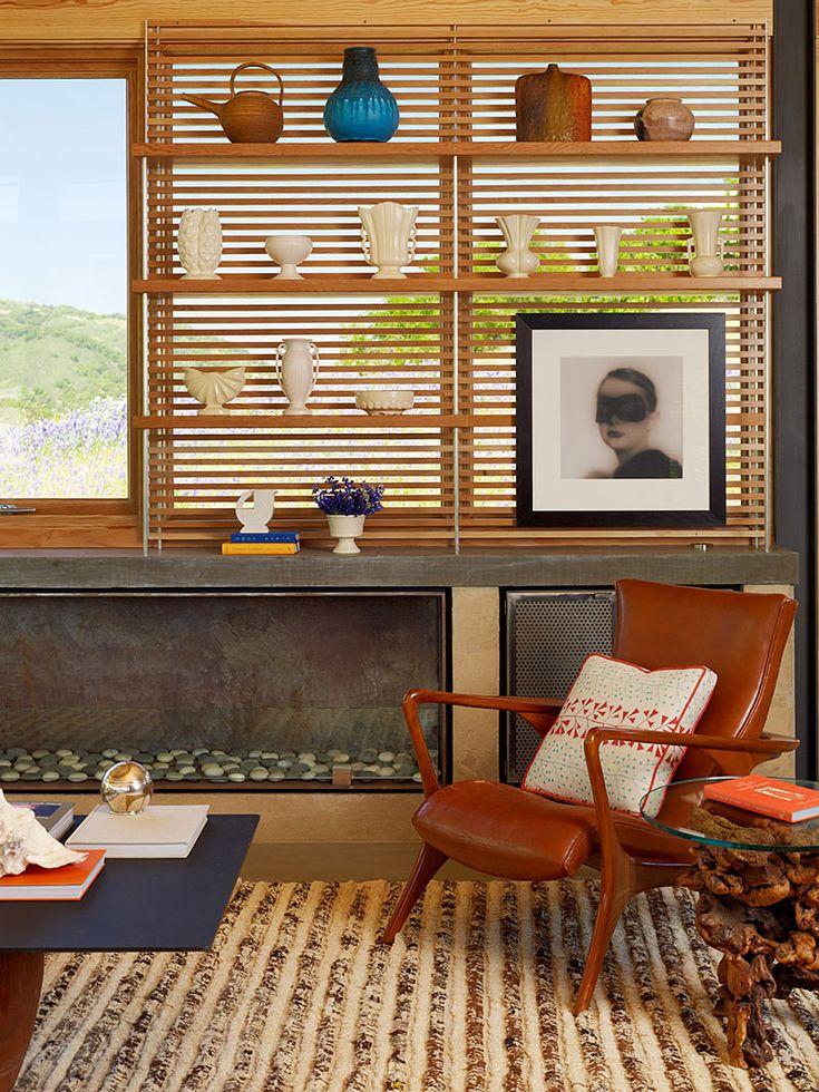Modern Fireplace Caterpillar House In Carmel California By Feldman Architecture