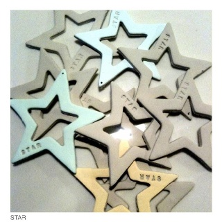 STARS - Made of self drying clay