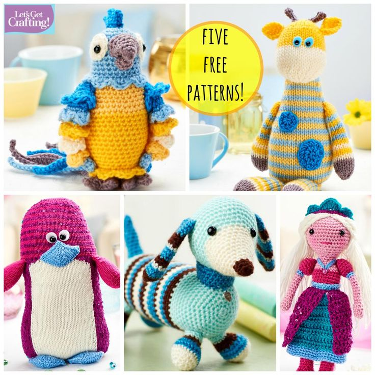 Five FREE #knitting & #crochet patterns from recent issues, just for you! Find them all here: http://www.letsknit.co.uk/free-knitting-patterns