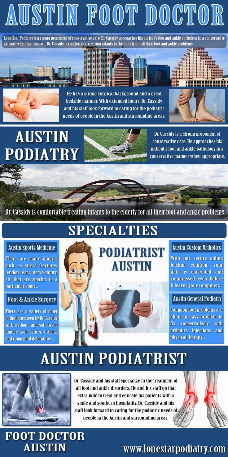 Check this link http://www.lonestarpodiatry.com  here for more information on Austin Podiatrist. Before you find a podiatrist, you need to learn a bit more about podiatry. It is a medical specialty dealing with the study, diagnosis and treatment of the disorders and injuries of the foot, ankle and lower leg. Therefore it is important that you opt for the best and the most famous Austin Podiatrist.  Follow us http://podiatristaustin.tumblr.com/