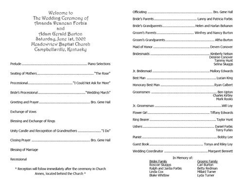 Sample Church Program Free Program Template Sample Church Bulletin