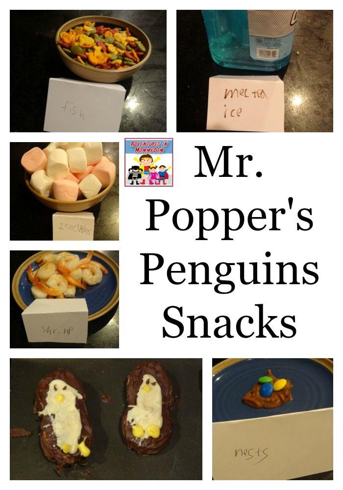 Mr. Popper's Penguins snacks