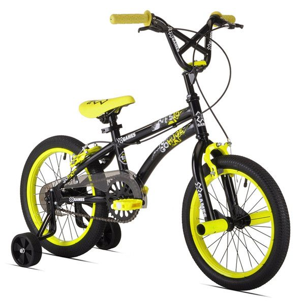 X-Games FS-16 Boys Bike (16-Inch Wheels), Black/Yellow