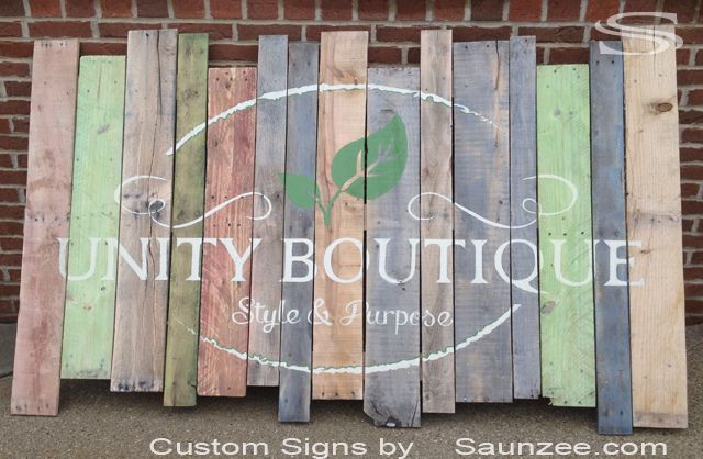 Saunzee Custom Pallet Signs Pallets Signs Business Pallet Rustic Wood Signs…