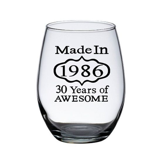 30th Birthday Wine Glass Dirty 30 by PersonalizedGiftsUS on Etsy