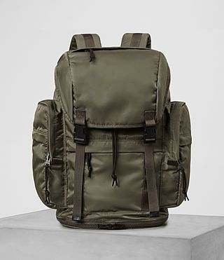 ALLSAINTS NAKANO RUCKSACK. #allsaints #bags #leather #lining #nylon #backpacks #cotton #