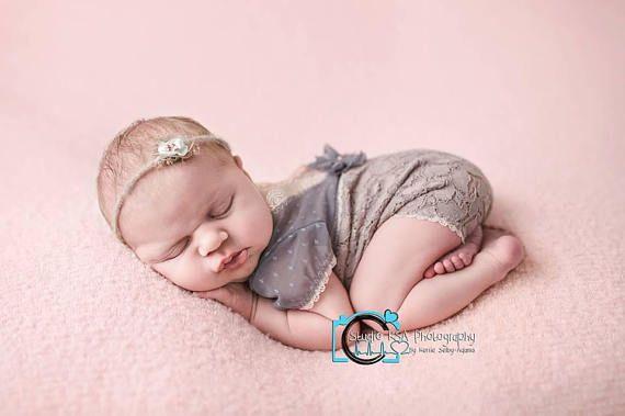 Newborn Photo Props Newborn Romper Lace Romper Baby Girl