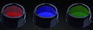 Filtros de colores Rojo, Verde y Azul AD302 (PD35, PD12, UC40, E21, E25) para diámetros de 25.4 mm