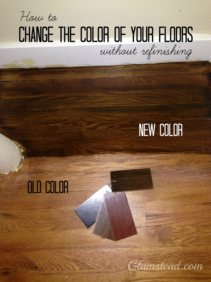 changing wood floor colors without refinishing glamstead