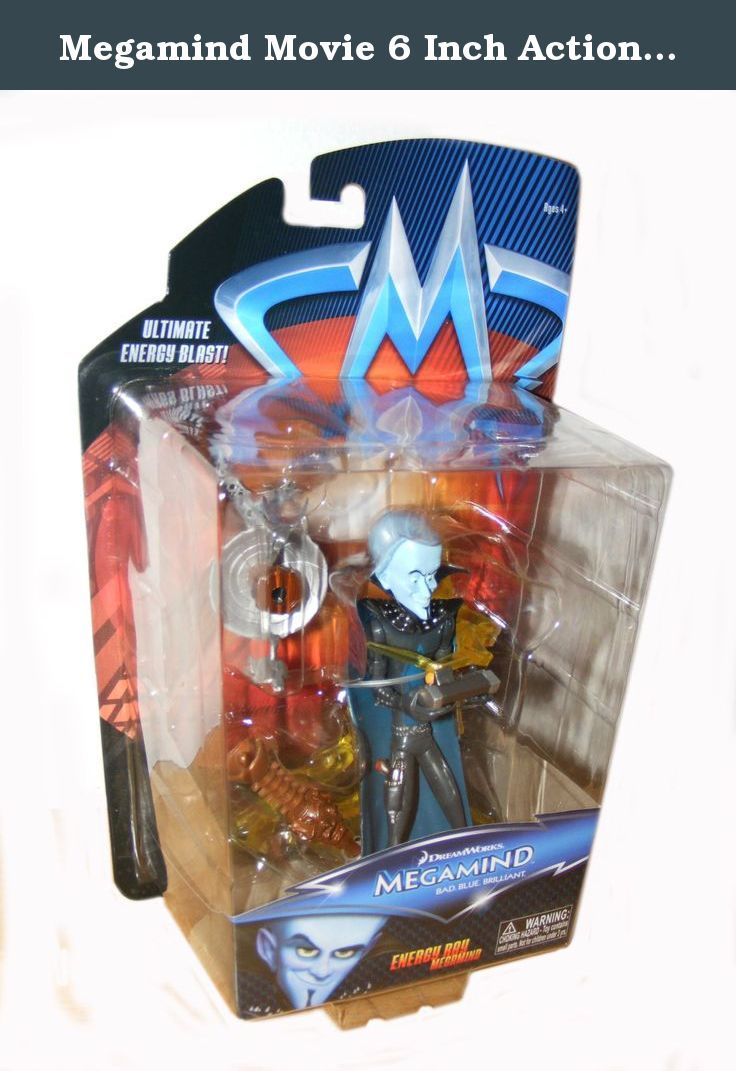 Megamind Movie 6 Inch Action Figure Energy Ray Megamind. Megamind is the most brilliant super villain the world has ever known. He has tried to conquer Metro City in every way, with each attempt a colossal failure thanks to the superhero Metro Man. One day, Megamind actually defeats Metro Man, but then realizes that without a super hero, a villains life has no purpose. Megamind creates a stronger opponent, Tighten, but Tighten turns to evil, so Megamind must decide if he can become the...