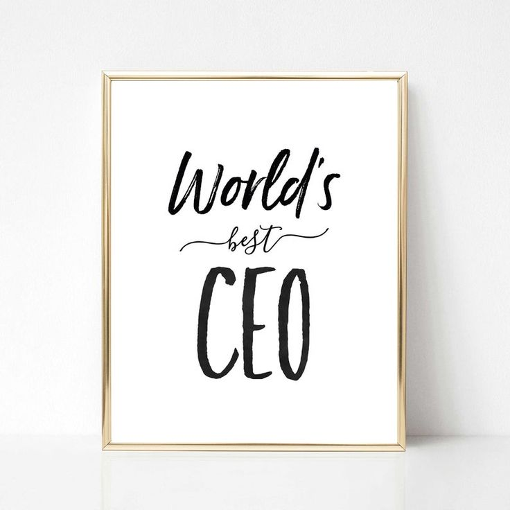 World's Best CEO Digital Print Best Boss Quote Gift