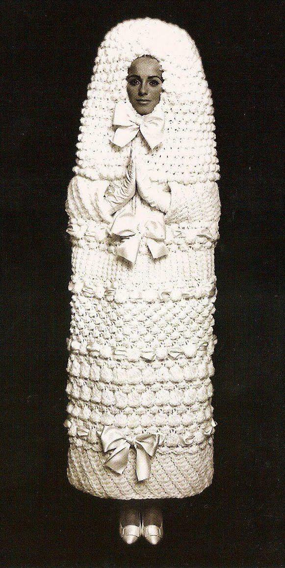 // YSL knitted wedding dress 1965