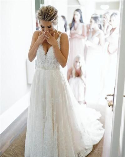 W85 New Arrival Lace Wedding Dresses with Court Train,Wedding Dress,Custom Made Wedding Gown from Fancygirldress