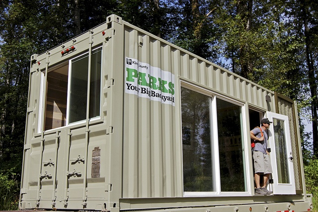 Camping container by HyBrid architecture in Tolt-MacDonald Park, Washington. 50 bucks a night.