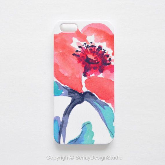 Coral Floral original design iPhone 5S case iPhone by SenayStudio