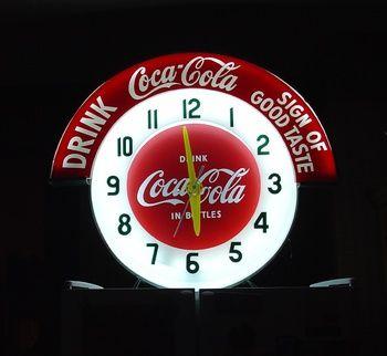 Coca Cola Marque Neon Clock | Drink Coca Cola | Sign of Good Taste