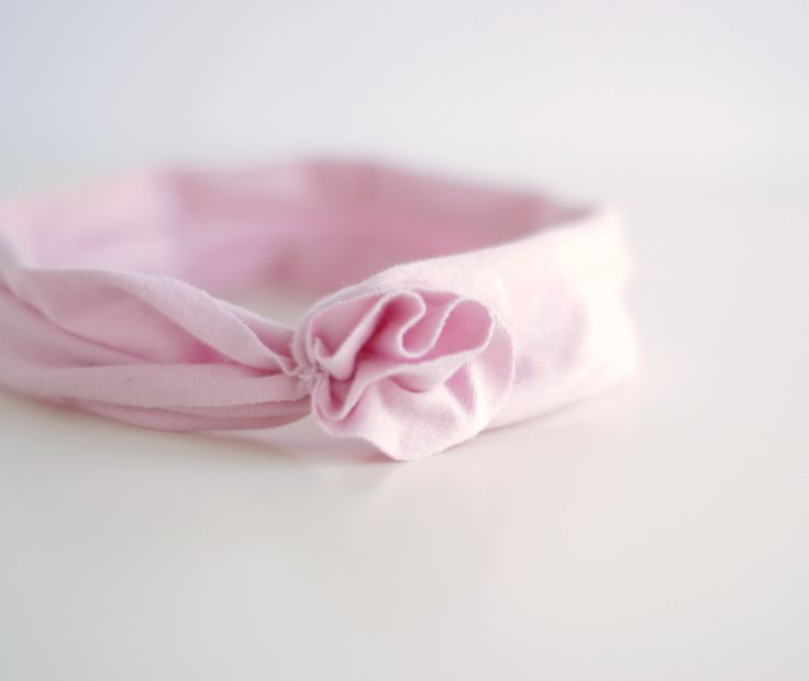 Baby Headband in 100% Organic Cotton Jersey with No Elastic / Newborn Headband / Baby Headwrap by CatherineSoucy on Etsy