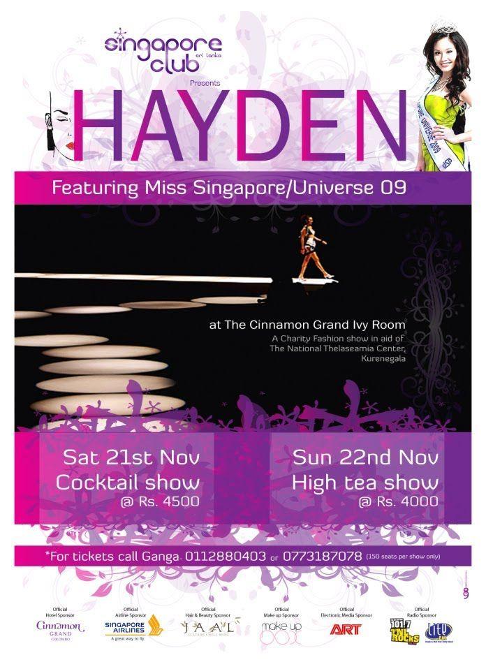 Sri Lanka Fashion Show 2009 featuring Miss Universe Singapore 2009, Rach...