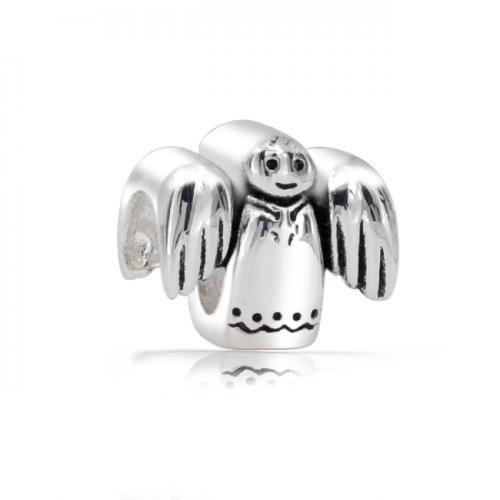 Christmas Angel 925 Sterling Silver Holiday Bead Pandora Troll Compatible