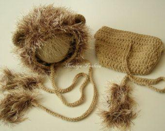 Babymutsje Lion & luier Cover/Disney/Baby leeuw hoed/Leeuw crochet outfit/foto Prop/pasgeboren Lion hoed/haak babymutsje/luier dekking Set /