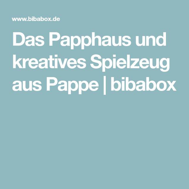 Das Papphaus und kreatives Spielzeug aus Pappe | bibabox