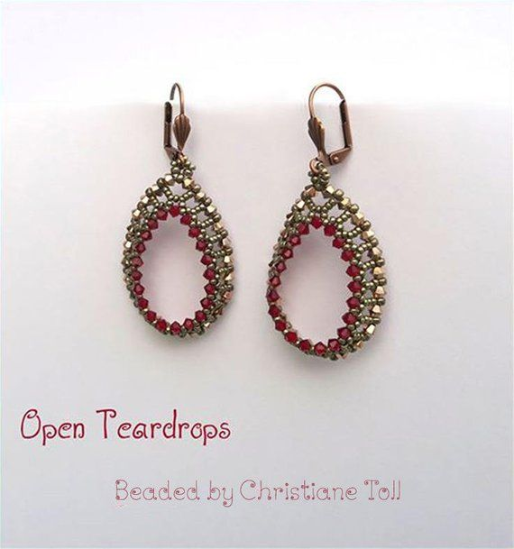 Crystal Earrings Tutorial Seed Beads And Crystals Earrings