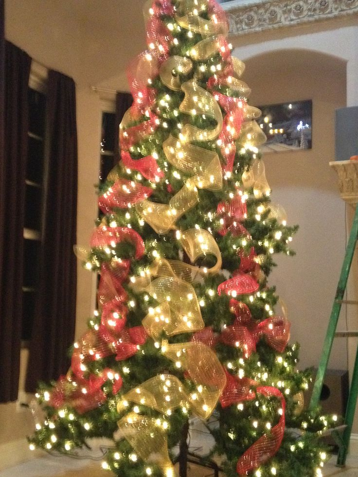 Pin by isabel nievez on all holiday ideas pinterest for Red green and gold christmas tree ideas
